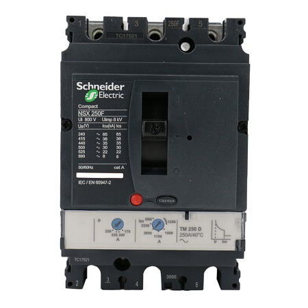 施耐德塑壳断路器   NSX250F TM250D 250A 3P NSX塑壳断路器选型选施耐德电气
