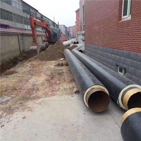 加工定制 暖气钢套钢直埋保温管 预制直埋钢套钢直埋保温管道 规格齐全