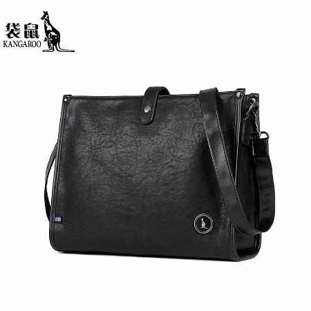 袋鼠品牌工厂直销男士手提包、单肩包、斜挎包KMBD0220037