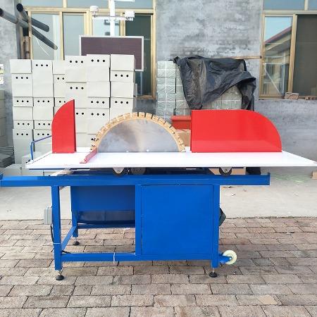 电动加气块切砖机 台式全自动加气轻质砖切割机 面包砖狼牙锯齿片