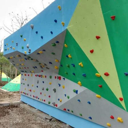 室外攀岩架设备定制 攀岩带定制 室外扣扣攀厂家-上海聚巧