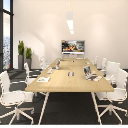 浩昱家具实木会议桌实木桌,办公台桌子组合批发