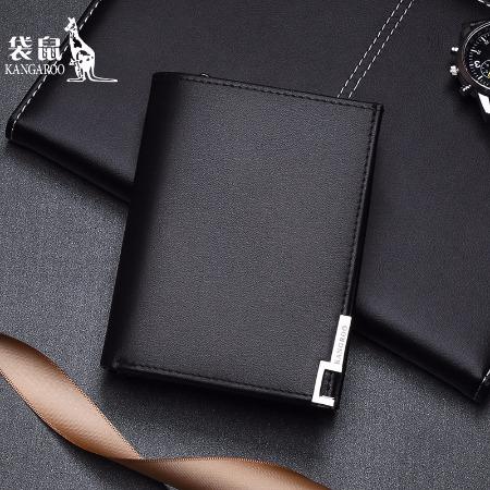 袋鼠品牌厂家直销男士钱包卡包驾驶证套短款钱包KMQB0219012