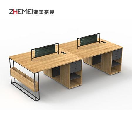 办公桌椅组合简约现代6人 南京家具公司哪家好 6人位屏风隔断卡座员工桌 浙美家具