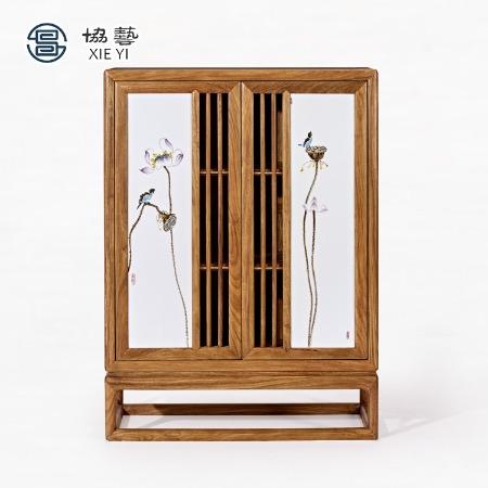 新中式餐边柜装饰边柜隔断柜玄关柜置物柜实木柜子非洲黄花梨协艺家具