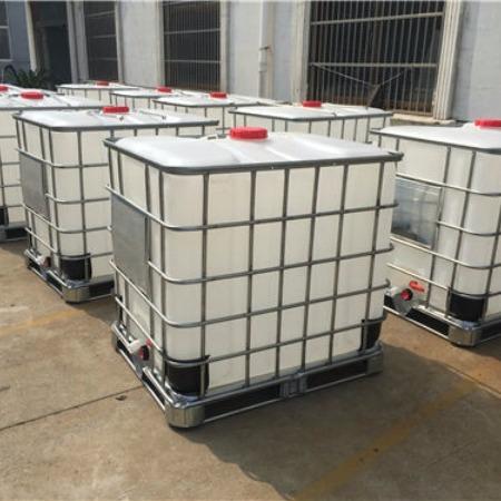 新利塑业1000升方桶 1000L带铁架子塑料桶 1000公斤大白桶