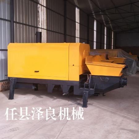 泽良小型细石砂浆输送泵 30电机小拖泵 移动拖式地泵 二次构造专用泵