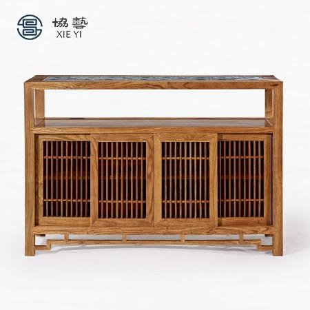 新中式装饰边柜隔断柜玄关柜餐边柜置物柜非洲黄花梨协艺家具