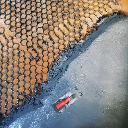龟甲网内衬耐磨陶瓷涂料生产厂家管道设备防护