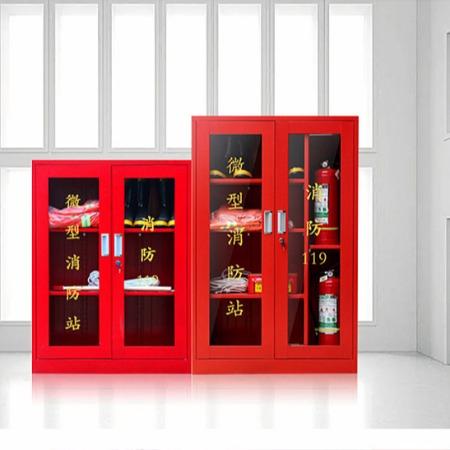 生产微型消防站建筑工地加油站消防工具柜可定制消防器材供应商