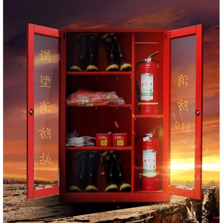 厂家供应 微型消防站建筑工地加油站消防工具柜可定制消防器材