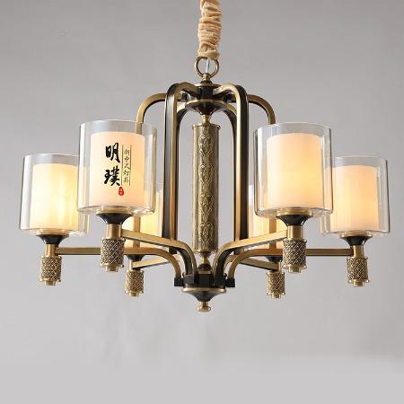 新中式的全铜吊灯 家装全铜吊灯