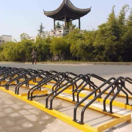 自行车停放架山西太原自行车架摆放架自行车位停车架圆形地垄