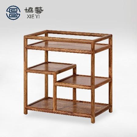 协艺家具 新中式茶水架中式茶水架实木电磁炉架中式家具品牌