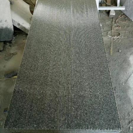 鲁灰毛板·鲁灰石材·鲁灰光板·鲁灰路沿石 芝麻黑厂家直销