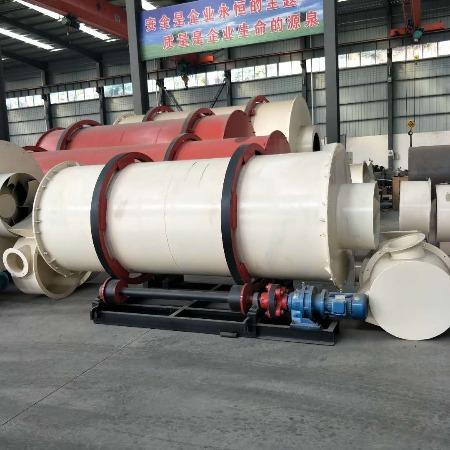 水泥工业干燥设备 大型木材木片烘干机 木糠化肥回转式烘干机