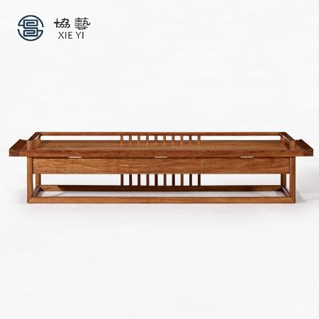 协艺家具新中式实木电视柜客厅地柜现代简约卧室矮柜大小户型装饰柜储物柜