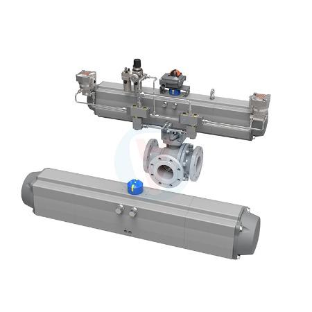 华尔士 专业生产客户定制三位置0-90-180度气动执行器气动蝶阀厂家支持执行器制造批发
