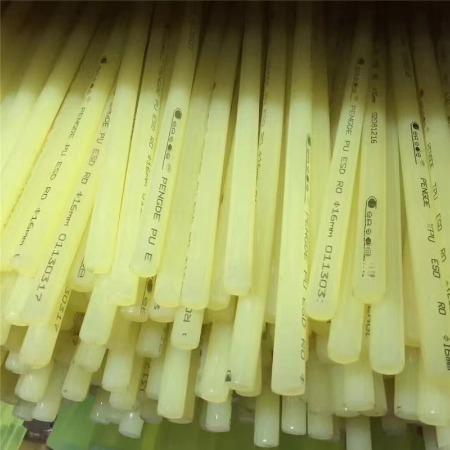 广东优力胶棒 牛筋棒 PU棒板 刀模垫板 聚氨酯棒90度  弹性橡胶棒  PU棒板零切加工