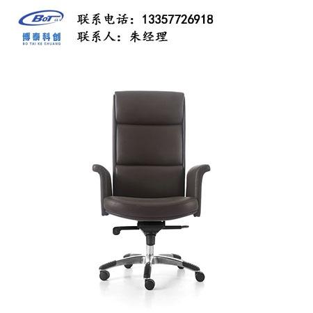 弓形电脑椅牛皮办公 椅家用人体 工学 高弹舒适 转椅休 闲椅软包职 员椅  卓文办 公家具 cy