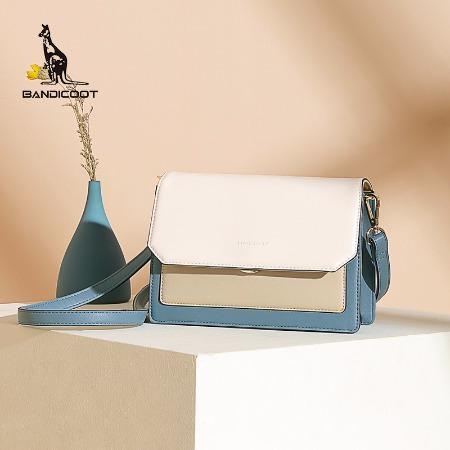 袋鼠(BANDICOOT)女包新款单肩包女撞色小方包斜挎包百搭小挎包简约时尚BWBD0220050