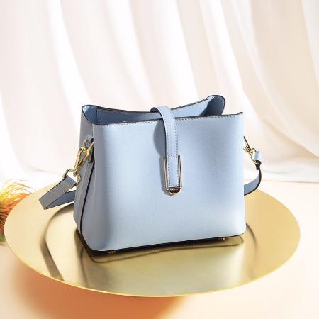袋鼠女包2019年新品单肩包软皮小方包纯色斜挎小包包手拎包女时尚休闲包 BWBD0220033蓝色