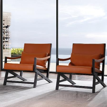 意式极简风格扶手椅休闲沙发椅休闲椅子厂价直销 深圳十大家具品牌意大利风格实木椅装饰椅真皮椅子厂家定制