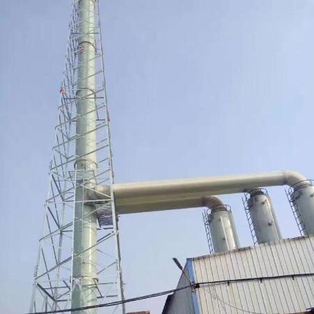玻璃钢锅炉脱硫塔烟囱  耐高温玻璃钢净化塔烟囱