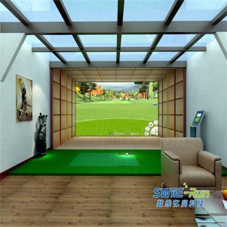 模拟高尔夫 室内模拟高尔夫设备   E-Run GOLF韩国高速摄像高尔夫模拟器