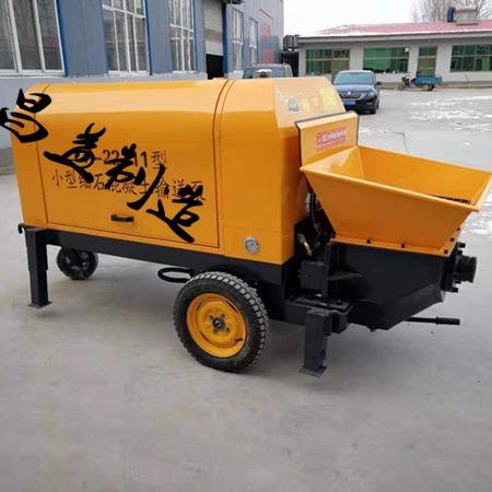 石河子推荐细石混凝土输送泵大骨料浇筑泵 细石砂浆输送泵上料机价格