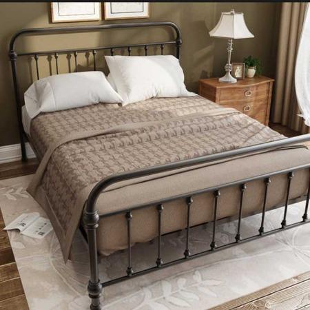 定制员工简便铁艺床  铁架床加厚 铁艺宿舍床