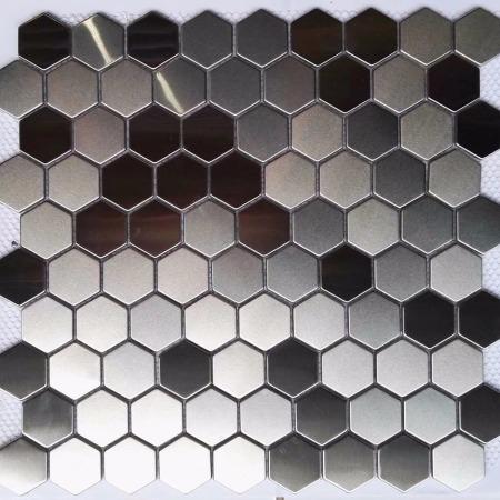 不锈钢马赛克 304不锈钢金属马赛克背景墙酒店别墅厂家直销生产定制