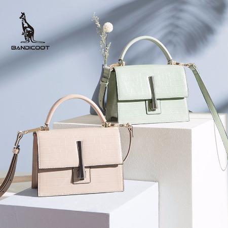 袋鼠女包新款,单肩包,鳄鱼纹斜挎包,手提包,时尚小挎包简约百搭BWBD0220052