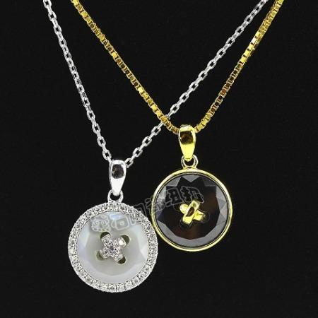 汤斯敦时尚饰品陶瓷纽扣项链