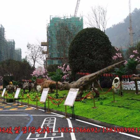 室外恐龙展示 弘讯恐龙展厂家商场举办恐龙展宣传