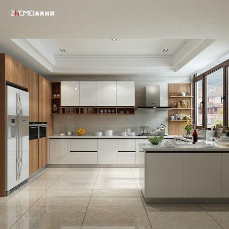 浙美家具全屋橱柜 北欧整体橱柜定做 整体厨房定制开放式厨柜橱柜