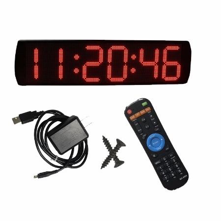 速度轮滑比赛计时器静音挂钟 厂家直销-杭州赣鑫6英寸6位LED马拉松静音挂钟计时器