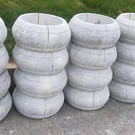 厂家直销柱墩石   大量出售仿古石缸  石缸   石雕盆景 柱鼓石   包皮柱鼓石