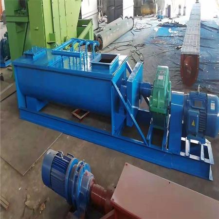 双轴加湿混料机 干灰双轴搅拌机 灰仓配套用 机制砂双轴混料机中冶型号齐全