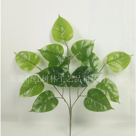 仿真植物-仿真菩提叶-假树叶-防紫外线塑胶绿植-红树林厂家批发