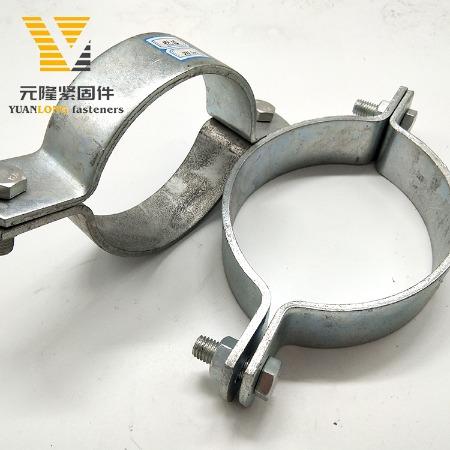 厂家现货 龙门重型管夹 悬吊管卡 成品支吊架抗震管廊配件 可定制