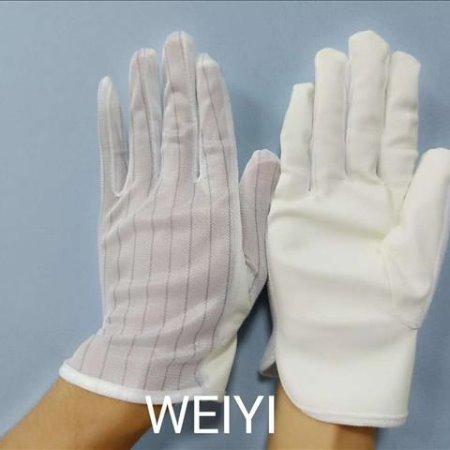 维易WEIYI线路板pcb沉银无硫手套 用米黄色pu防静电无硫手套