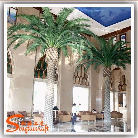 广州厂家 假海枣树仿真棕榈树 园林景观海枣树 中东海藻树批发