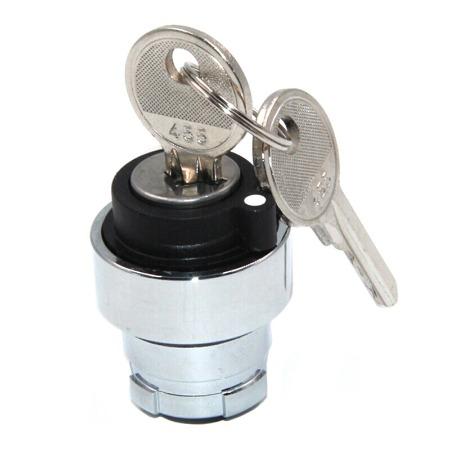 施耐德按钮指示灯 XB2 自锁型 选择开关附件 ZB2BG3C 钥匙开关头 二档钥匙旋钮头 中间出