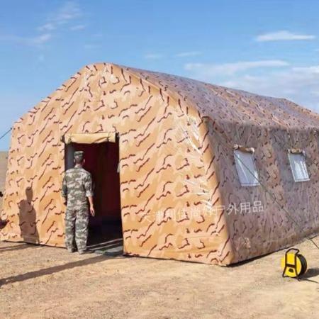 丽日帐篷  军用充气帐篷 此类帐篷为充气结构,成型及回收非常方便容易。产品具有刚度大、稳定性好、折叠