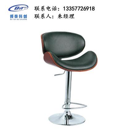 北欧休闲铁艺吧椅 创意简易型酒吧 实木吧椅 高脚凳定制 卓文办公家具休闲吧椅 YZ-21