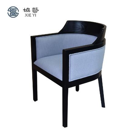 协艺家具  休闲椅 躺椅 中式创新椅子 老榆木凳子 新中式餐椅 中式风格家具