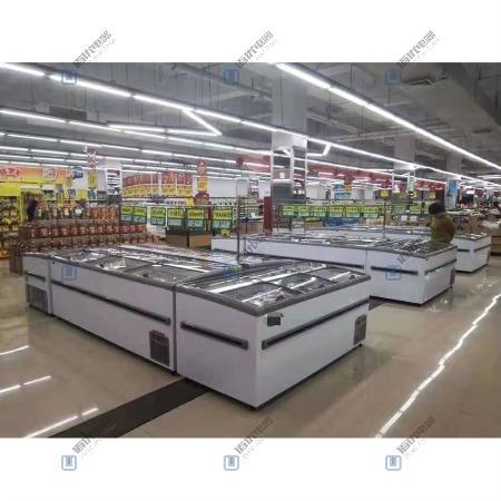 直冷岛柜,卧式冰柜,商用冷冻冷藏冰箱【佰优冷柜】!