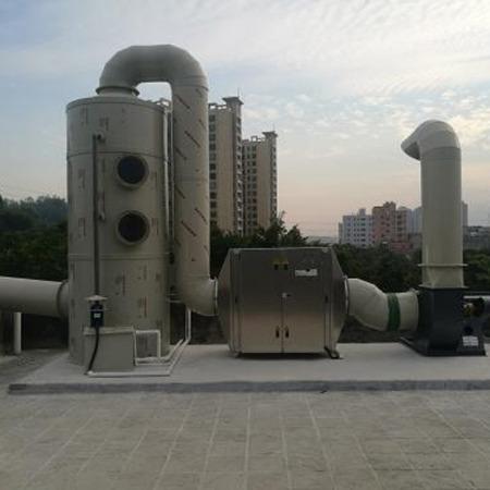 华睿新程直销加工 酸雾塔 玻璃钢脱硫塔  自循环喷淋塔净化器  洗涤塔废气除臭处理