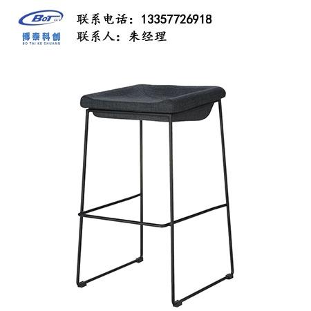北欧休闲铁艺吧椅 创意简易型酒吧 实木吧椅 高脚凳定制 卓文办公家具休闲吧椅 YZ-18